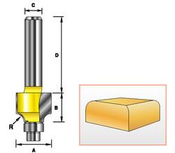 """Kempston -   Miniature Round Over Bit, 1/8"""" Radius - 98000"""