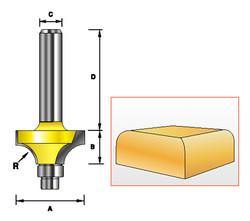 """Kempston -   Miniature Round Over Bit, 1/4"""" Radius - 98001"""