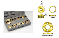 Kempston -   9 pcs Brass Template Guide Kit without Adapter - 99006