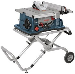 "Bosch -  10"" Worksite Table Saw with Gravity-Rise™ Wheeled Stand - 4100-09"