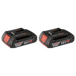 Bosch -  18V Lithium-Ion SlimPack Battery (2.0 Ah) - 2-Pack - BAT612-2PK