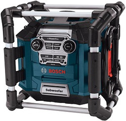 Bosch -  Power Box™ 360 Jobsite AM/FM Stereo with 360 Degree Sound and Digital Media Bay - PB360S-C