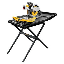 "DeWALT -  10"" Wet Tile Saw with Stand - D24000S"