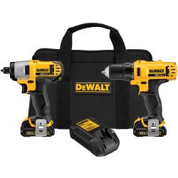 DeWALT -  12V MAX* Cordless Li-Ion Drill/Driver / Impact Driver Combo Kit - DCK211S2