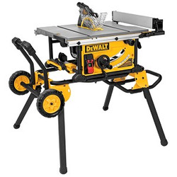 "DeWALT -  10"" Compact Job Site Table Saw w/Rolling Stand - DWE7491RS"