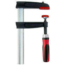 Bessey TGJ2.512+2K - Clamp, woodworking, F-style, 2K handle, replaceable pads, 2.5 In. x 12 In., 600 lb
