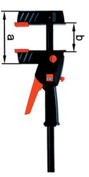 Bessey DUO30-8 - Clamp, one hand, DuoKlamp Series, 3 1/4 In. x 12 In., 260 LB
