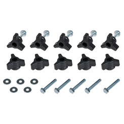 71068 T-Track Knobs, 1/4-20 by 1-1/2-Inch Bolts, Washers, Set of 10