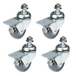 17202 Dual-Locking Swivel Caster Set, 4-Pack
