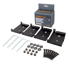 71132 Quick-Release Workbench Caster Plates, 4-Pack