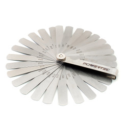 80010 26-Blade Master Feeler Gauge Set – Tempered Steel - Measures flatness and Width Gaps - Standard and Metric - The Ultimate Gift for any Woodworking, Automotive, or Machinist's Shop