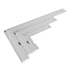 "80005 L-Shaped Square Set with Levels - 3PK – 5', 8"", 14"" in Length – Premium Aluminum- Standard and Metric Index  - The Ultimate Gift for any Woodworking shop"