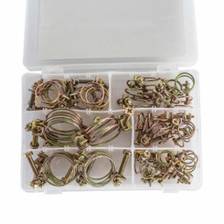 """70251 Wire Clamp Assortment (sizes 1/2"""", 5/8"""", 3/4"""", 7/8"""", 1-1/8"""", 1-1/4""""), 42-total count"""