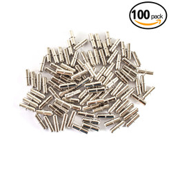 QP1203 5mm Shelf Pins | Nickel Plated Cylindrical Pins | Split Collared Pegs for Shelving and Cabinetry - Woodworking Hardware – 100 Pack