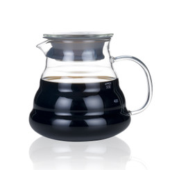 Blue Brew BB1008 Borosilicate Glass Coffee Server | 600 ML | Heat Resistant | High Quality Glass Construction | Superior Heat Resistance | Range Server | Perfect for Pour Over Coffee Dripper Method | Convenient Single Serving | Sleek 4 Tiered Design