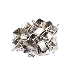 5mm L-Shaped Bracket Style Shelf Pins, Nickel (See More Choices)