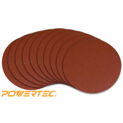 110600DIS 11-3/4-Inch PSA 80 Grit Aluminum Oxide Adhesive Sanding Disc, 10-Pack