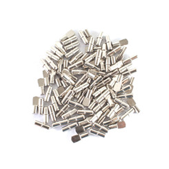 QP1107 Cylindrical Shaped & Spoon Shaped Shelf Pins 5mm | Nickel Plated | – Cabinet Pins for Shelves | Flat Spoon Shaped & I Shape Shelf Hole Support | Woodworking Tools Collection – 100 PK