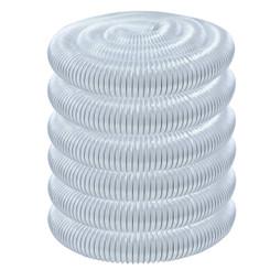 70268 PVC Dust Collection Hose (3 Inch x 50 Feet) | Flexible Clear Vue Heavy Duty PVC Hose
