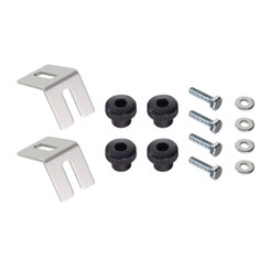 "71334 Multi Track Brackets and Clamping Knob Hardware Kit with Hex Bolt Fasteners 1/4""-20 x 1"" 