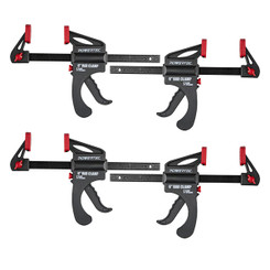 71088P4 6 in. Quick Release Bar Clamp with 12 inch Spreader | Ratcheting Bar Clamp - 4PK