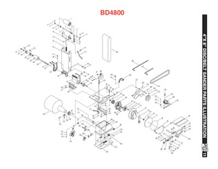 BD4800ISA Idler Drum and Shaft Assembly (KEY#1 to 6)