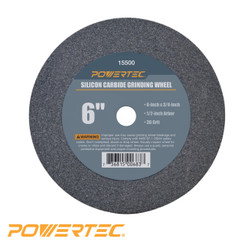 Silicon Carbide Grinding Wheel, 6-Inch by 3/4-Inch, 1/2-Inch Arbor (see more choices)