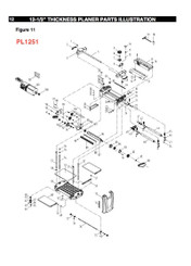 KEY#21 (PL1250 KEY#65) PL1250065 Cutterhead Lock Plate