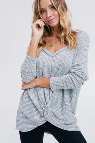 The Jess Top- Grey