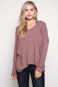The Tanya Top- Light Maroon