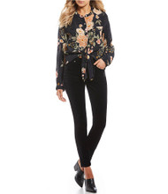 Patrons Of Peace Black Floral Top