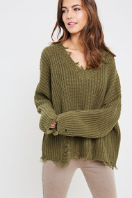 The Piper Sweater- Olive
