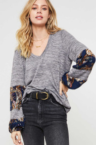 The Chrissy Top- Grey
