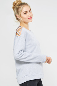 The Lily Top- Grey