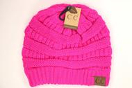 C.C. Classic Neon Beanie- Neon Pink