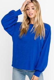 The Lisa Top- Cobalt Blue