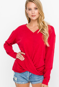 The Marissa Top- Bright Red