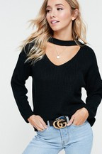 The Marci Sweater- Black