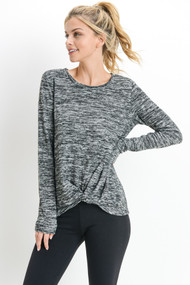 The Shaley Top- Charcoal