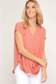 The Miley Top-Peach