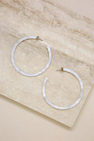 The Ettika Perfect White Resin Hoops