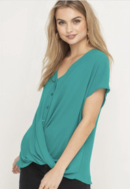 The Miley Top- Teal Green