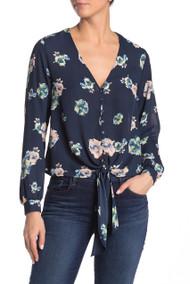 The Sabrina Navy Floral Blouse- Lush Clothing