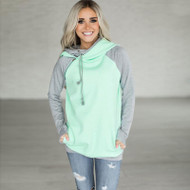 The Audrey Double Hoody- Mint