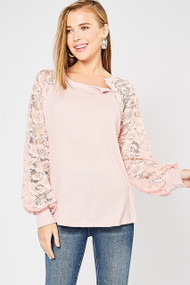 The Megan Top- Blush