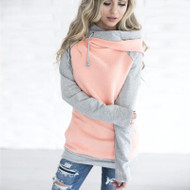 The Audrey Double Hoodie- Peach