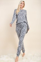 The Jaci Jogger- Grey Leopard
