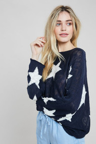 The Star Sweater- Navy