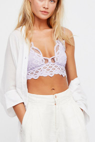 The Free People Adella Bralette- White
