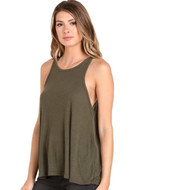 Free People Long Beach Tank- Olive